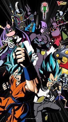 #Goku, #Vegeta, & Universo 7 vs Universo 6
