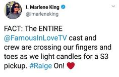 Marlene King, Famous In Love, It Cast, Facts, Words, Horse