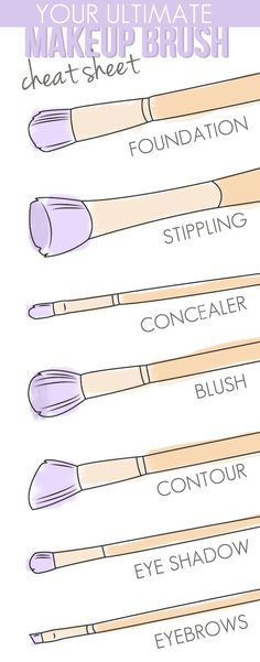 Brush up: Your ultimate makeup brush cheat sheet