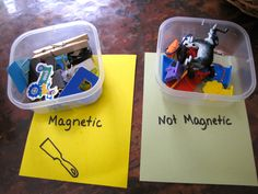 sorting magnetic from non-magnetic items