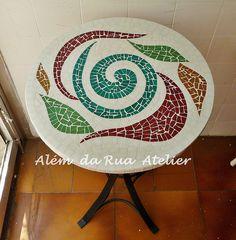 Mesa mosaico Além da Rua Atelier