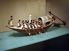 Ancient Egyptian funerary boat, Middle Kingdom.