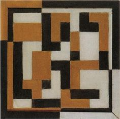 Composition (Composition in yellow and ochre), Theo van Doesburg, 1917-1918