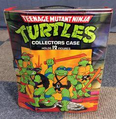 VINTAGE 1988 TEENAGE MUTANT NINJA TURLES TNMT COLLECTORS STORAGE DISPLAY CASE