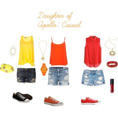 """""""Daughter of Apollo"""" Apollo Percy Jackson, Percy Jackson Fandom, Nerd Fashion, Fandom Fashion, Greek Outfits, Greek Clothing, Clothing Sets, Cool Outfits, Summer Outfits"""