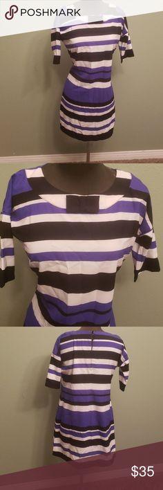 de3edf652903 Spotted while shopping on Poshmark  Sale ❤ Kardashian Loose Bow Neck Dress  stripe!