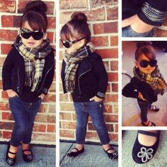 This Lil girl is adorable. So like my girls... Just total divas!!! Just Like  mommy! #Kids clothes