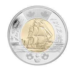 HMS Shannon two-dollar coin. This coin commemorates the War Of between Canada and The United States. Both sides claimed victory. Silver Coins For Sale, Gold And Silver Coins, Canadian Coins, Canadian History, Coin Buyers, Coins Worth Money, Coin Worth, War Of 1812, Commemorative Coins