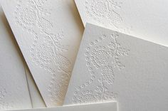 embossing a pattern which can be the boarder of my artwork