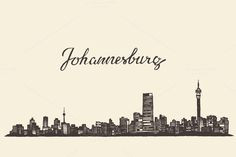 Johannesburg skyline (South Africa) by grop on Creative Market