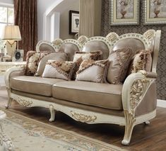 Black Leather Sofa Set, Leather Sofa And Loveseat, Tan Sofa, Gold Sofa, Genuine Leather Sofa, Sofa And Loveseat Set, Modern Wooden Furniture, Luxury Home Furniture, Sofa Furniture