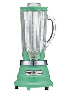 retro seafoam green blender // via gilt home