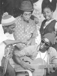 Bob Marley, Rita Marley, Bunny Livingston, Peter Tosh.