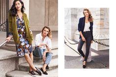 ad0161252d639 The models wear transitional separates for the fall season Edita  Vilkeviciute, Modern Essentials, Liu