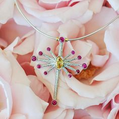 Dragonfly dreaming 🌸 dragonfly necklace handmade by Ricardo Basta Fine Jewelry - diamond dragonfly necklace
