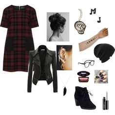 Untitled #76 by birchpoint on Polyvore featuring polyvore, fashion, style, Manon Baptiste, Clarks, Feathered Soul, Marc by Marc Jacobs, Coal, Larke, MAC Cosmetics and CO