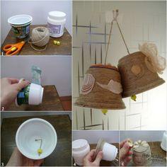 bells from yogurt cups