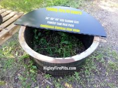 Round folding fire pit ring sniff cover. Solid stainless steel hinge www.HigleyMetals.com