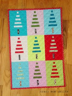 crazy mom quilts: mini trees! quilt