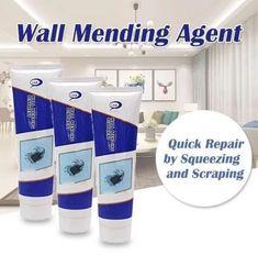 Wall Mending Agent - Diy Home Crafts Home Projects, Home Crafts, Diy Home Decor, Room Decor, Home Fix, Diy Home Repair, Useful Life Hacks, Home Repairs, Diy Home Improvement
