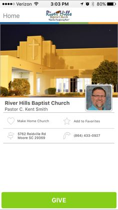 River Hills Baptist Church in Moore, South Carolina #GivelifyChurches