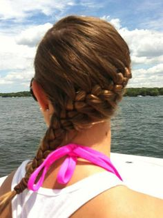 13 DIY Braided Hairstyles We Love: We?re obsessed with braided hairstyles?re perfect for hot summer days, and a great way to spice up your look. Curious to see if you?re as into them as we are, we asked you to submit your best plaits to French Braid Hairstyles, Wedding Hairstyles For Long Hair, Summer Hairstyles, Pretty Hairstyles, Straight Hairstyles, Braided Hairstyles, Sporty Hairstyles, Hair Wedding, Softball Hairstyles