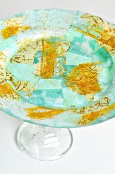 Transforma tus viejos platos de vidrio en modernos y originales...