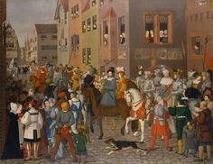 Franz Pforr: Entrada de Rodolfo de Habsburgo en Basilea en 1273. 1808-1810