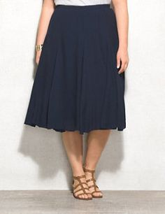 Plus Size Peasant Skirt