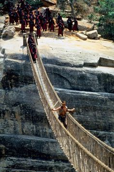Kandy, Sri LankaWhen Indy faces adversity, he gets creative; that's also what director Steven Spielberg and his crew did with the rope-bridge scene at the climactic ending of Temple of Doom. Unable to film on location in north India where they had originally wanted to, they ended up shooting many scenes, including this one, near Kandy, Sri Lanka.
