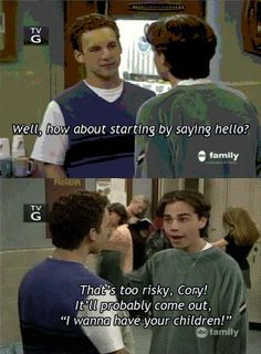 Ya know if i Ever met Ryder Strong, Danielle Fishel, Josh Hutcherson or Tom Hardy..lol I Love Boy Meets World