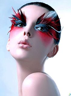 Extreme eye makeup. Fantasy face makeup. Amazing lip designs. All very inspiring…