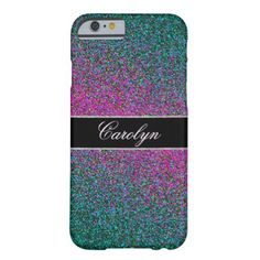 Modern Glitter Glam Barely There iPhone 6 Case A very pretty and modern looking cell phone with glitter and glam. #glitter #glittery #purple #green sparkle...
