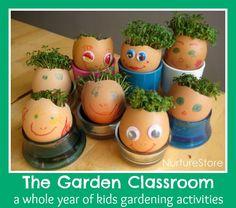 The Garden Classroom : a whole year of kids gardening activities - gardening, art, craft, math, writing, science, play ideas