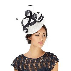 Add a contemporary touch to an occasion with this fascinator from Ben de Lisi. With a two-tone design and bow and feather detailing, this accessory will make a statement at any formal occasion.