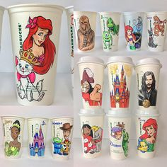 Start Your Day With A Personalized Hand Drawn Disney Cup!