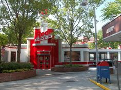 @Dollywood Park's Red's Drive-In, serving up delicious hamburgers, fries and milkshakes daily!