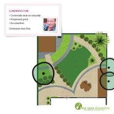 Lijnenspeltuin, getekend door onze tuinontwerper Rop Oudkerk.