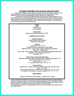 example resume for high school students for college applications - Sample Resume College Graduate