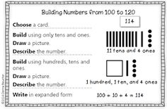 1st Grade: Exploring Numbers to 120--Concrete, Representational, and Abstract