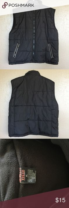 Men's Black Brooklyn Express Puffer Vest  XL Men's Black Poly filled Puffer Vest by Brooklyn Express size XL. Zip Front and Fleece lined. A staple in any high school boy's wardrobe and add it to your husbands closet to keep him feeling on trend!!! No standbout logos for the understated guy in your life😎 Brooklyn Express Jackets & Coats Vests