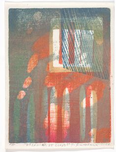 Dreaming of Clouds - Watercolour Woodblock print Paul Furneaux Contemporary Printmaking, Natural Form Art, Japanese Watercolor, Woodblock Print, Medium Art, Artist At Work, Painting & Drawing, Art Prints, Textiles