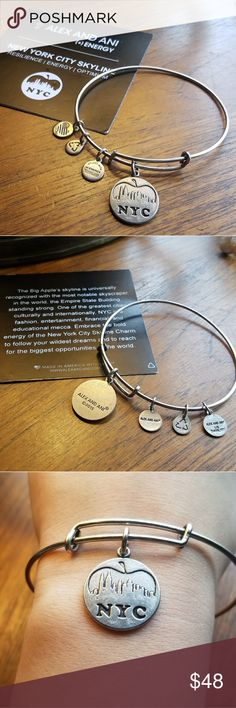 *RARE RETIRED* Alex & Ani NYC City Skyline Bangle *RARE RETIRED* Alex and Ani Rafaelian Silver New York City Skyline Bangle Bracelet. Beautiful. Adjustable. A great collector's piece. Represents Resilience, Energy, and Optimism. Card included. Alex and Ani Jewelry Bracelets