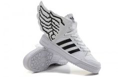 45bd65a76ea0 Originals Adidas Jeremy Scott Wings 2.0 New White Black Shoes Nike  Sneakers