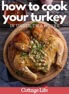 Follow this easy how-to guide to cook your turkey on the grill or BBQ. A spatchcocked turkey cooks fast for your Christmas dinner. #howto #turkey #holiday #christmasdinner #BBQ #easyrecipe #turkeydinner #CottageLife Cottage Meals, Fresh Turkey, Food Handling, Grilled Turkey, Cottage Christmas, Holiday Side Dishes, Homemade Breakfast, Cooking Turkey, Lake Life