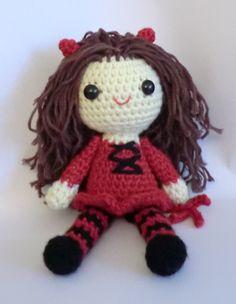 Sally the little devil trick or treat halloween amigurumi crochet pattern. £2.50, via Etsy.