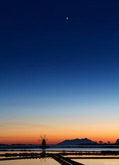 Sunset at Saline (Salt Pans) Marsala by Angelo Bosco on Flickr.