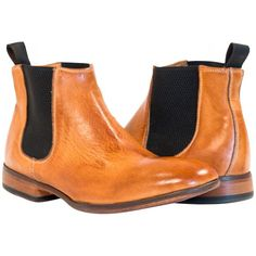 Sabina Dip Dyed Brick Brown Chelsea Boots from PaoloShoes.com