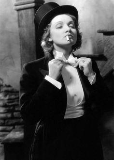 Marlene Dietrich, rocking a tux.