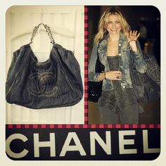Chanel celeb-beloved XL denim coco cabas tote bag www.resalerichesnyc.com